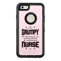GRUMPY overworked underpaid NURSE (blk) OtterBox Defender iPhone Case