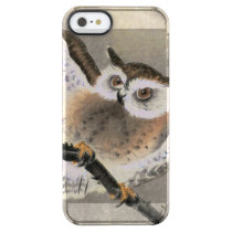 Grumpy Owl Clear iPhone SE/5/5s Case