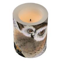 Grumpy Owl Flameless Candle