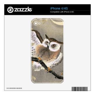 Grumpy Owl iPhone 4S Decal