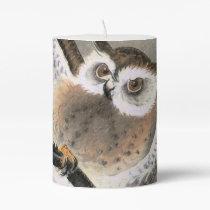 Grumpy Owl Pillar Candle