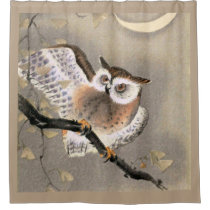 Grumpy Owl Shower Curtain