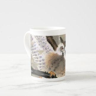 Grumpy Owl Tea Cup