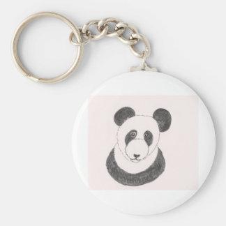 Grumpy Panda Basic Round Button Keychain