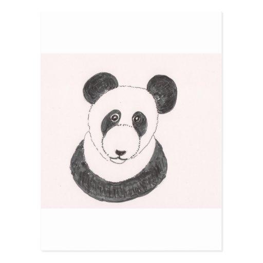 Grumpy Panda Post Card