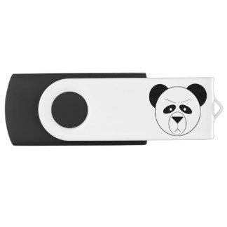 Grumpy Panda Silver, 16 GB, Black USB Flash Drive