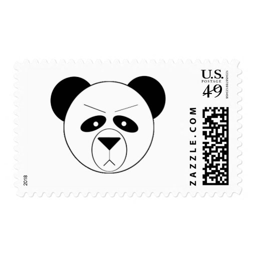 Grumpy Panda Stamp