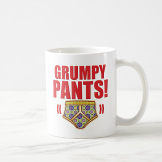 Grumpy Pants Flowery Classic White Coffee Mug