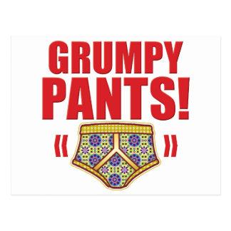 Grumpy Pants Flowery Postcards