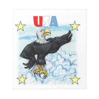 Grumpy Patriotic Eagle Memo Notepad