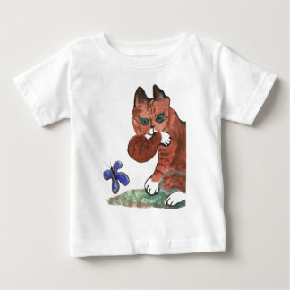 Grumpy Paws Eyes an Etheral Butterfly Baby T-Shirt