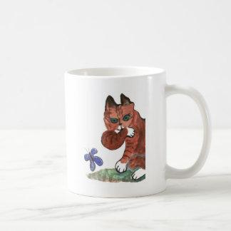Grumpy Paws Eyes an Etheral Butterfly Coffee Mug