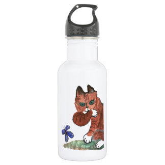 Grumpy Paws Eyes an Etheral Butterfly Stainless Steel Water Bottle