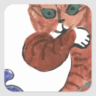 Grumpy Paws Eyes an Etheral Butterfly Sticker