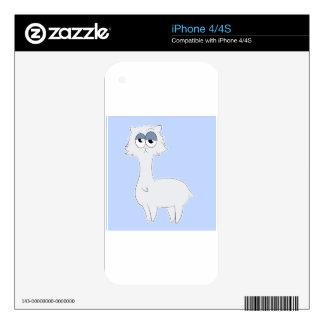 Grumpy Persian Cat Llama Decals For The iPhone 4S