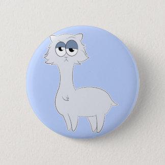Grumpy Persian Cat Llama Pinback Button