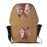 Grumpy Pointing Axe Messenger Bags