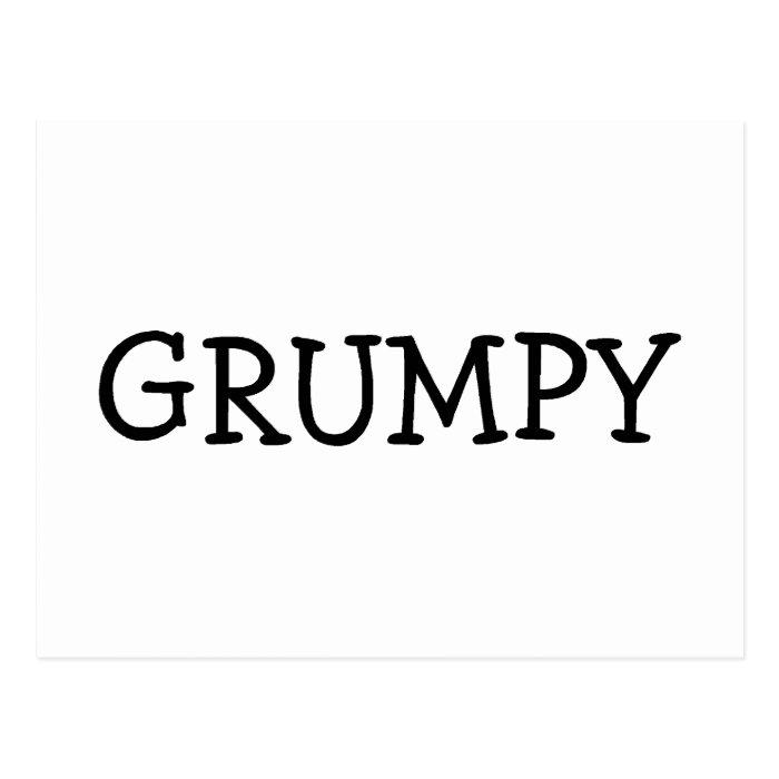 Grumpy Postcard