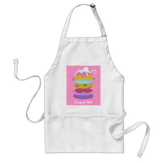 Grumpy princess cat and the pea funny apron