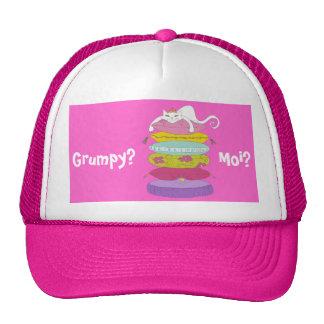 Grumpy princess cat and the pea hats