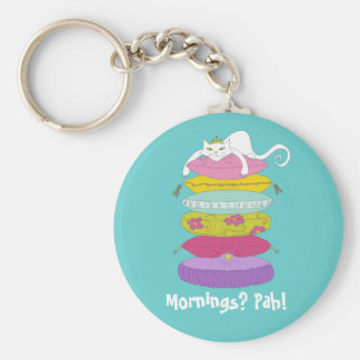 Grumpy princess cat and the pea keychains