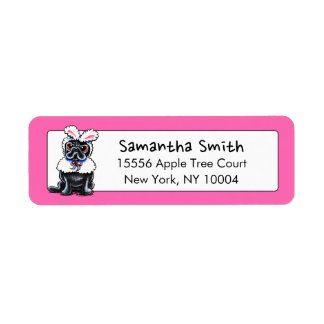 Grumpy Pug Bunny Easter Label