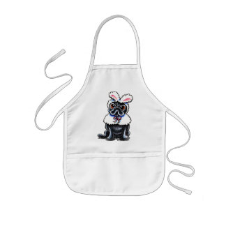 Grumpy Pug Bunny Kids' Apron