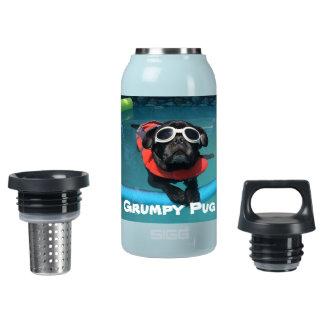 Grumpy Pug Insulated Water Bottle