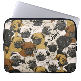 Grumpy Pugs / Funny Cute Pug Dogs Personalized Computer Sleeve