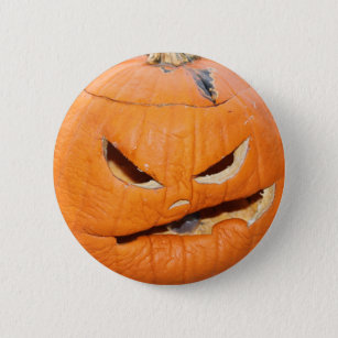 Grumpy Pumpkin Pinback Button