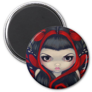 """Grumpy Red Fairy"" Magnet"