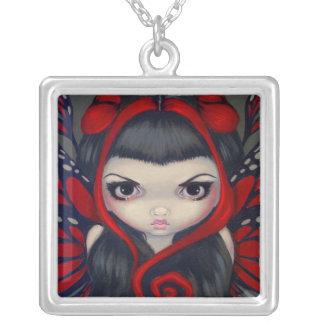 Grumpy Red Fairy NECKLACE gothic fantasy