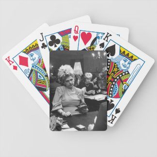 Grumpy Rich Lady  Vintage Photo Bicycle Cards Bicycle Playing Cards