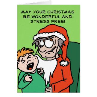 Grumpy Santa funny Christmas card