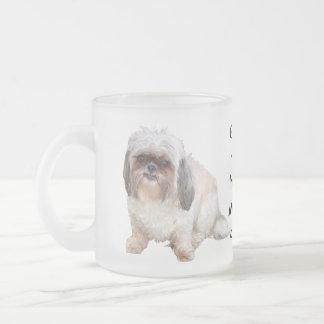 Grumpy Shih Tzu Frosted Morning Coffee Mug