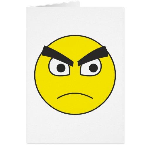 grumpy Smilie grumpy smiley Card