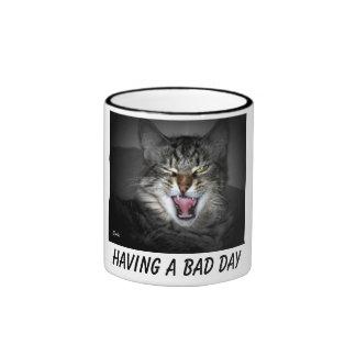 Grumpy Snarling Cat Mug