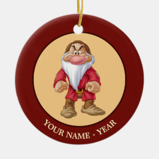 Grumpy | Standing Add Your Name Ceramic Ornament