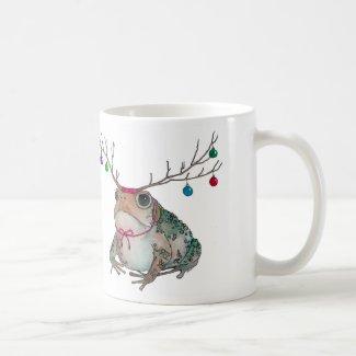 Grumpy Toad Enjoying the Holidays Coffee Mug