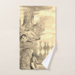 Grumpy Tree Hand Towel