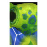 Grumpy Turtle Colorful Green Stationery Design