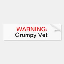 Grumpy Vets Bumper Sticker