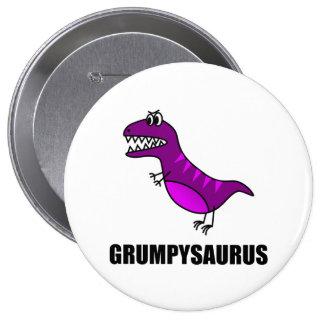 Grumpysaurus 4 Inch Round Button