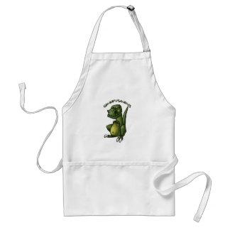 Grumpysaurus dinosaur being grumpy! adult apron