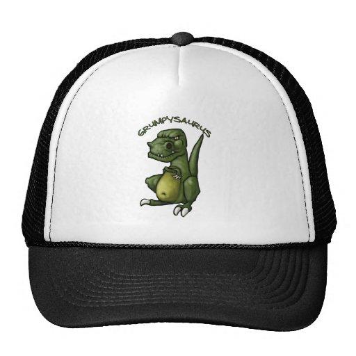 Grumpysaurus dinosaur being grumpy! mesh hat