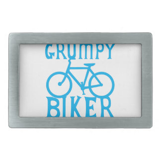 GRUMY BIKER with bicycle in blue Rectangular Belt Buckle