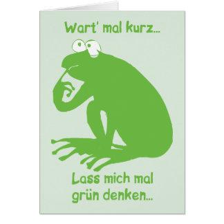 Grün Denken Card