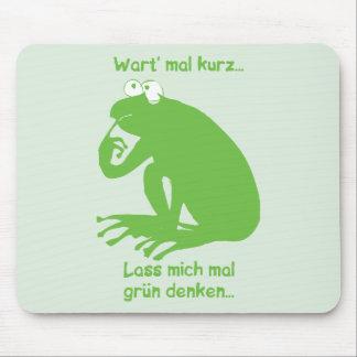 Grün Denken Mouse Pad