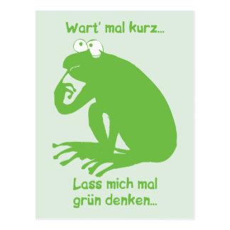 Grün Denken Postcard
