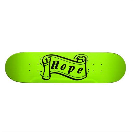 Grün ist die Hoffnung grüner Art Deco Skateboard Bedruckte Skateboarddecks